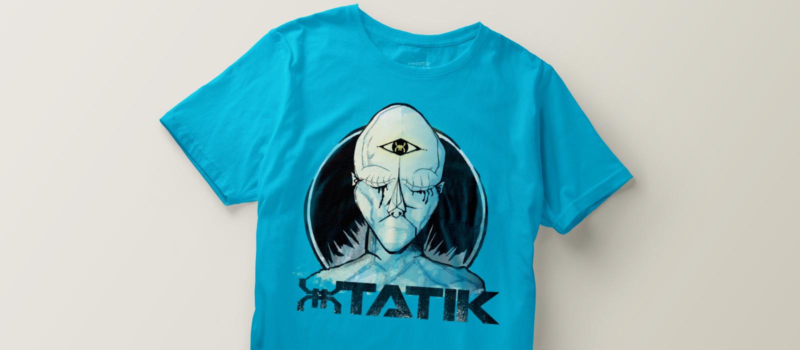 Xtatik déclinaison identité visuelle sur t-shirt