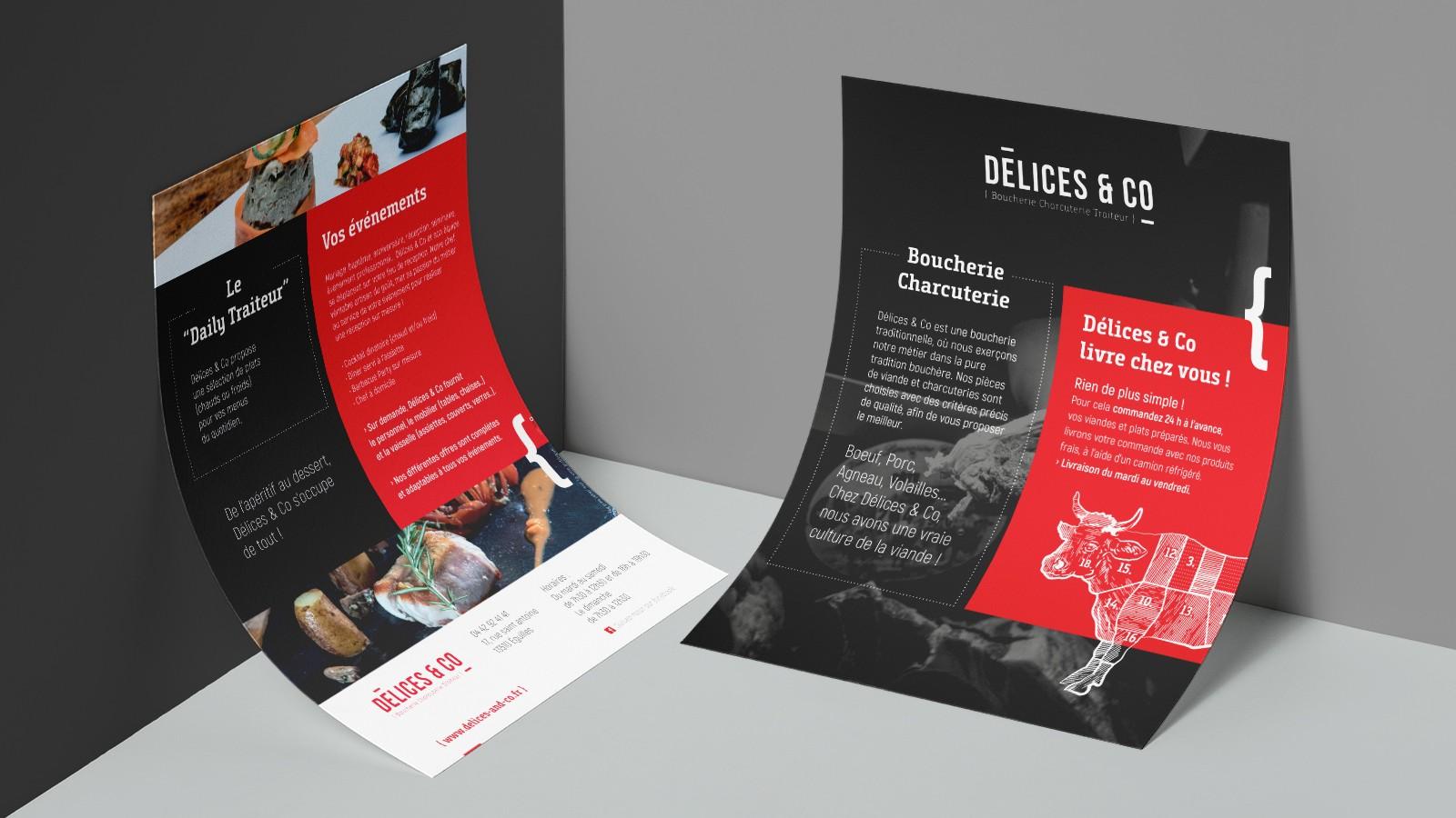 Flyer promotionnel de la Boucherie Délices & Co