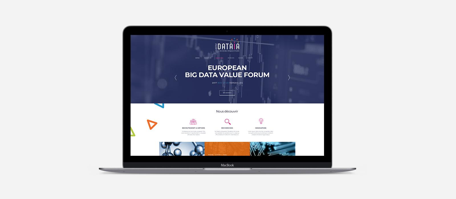 Modèle site internet - Institut DATAIA