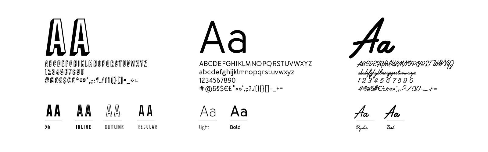 Typographies La Rotonde