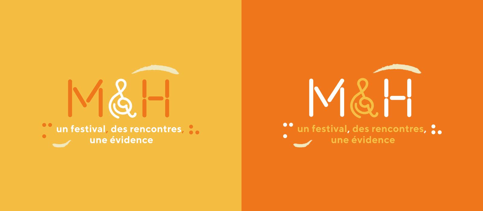Logotype festival M&H - déclinaisons